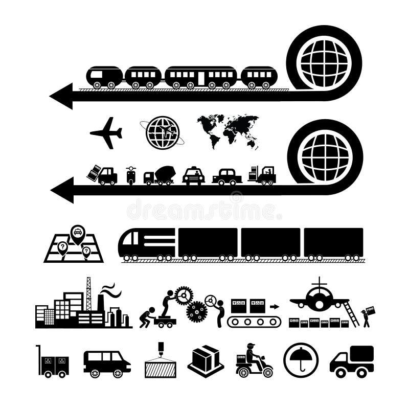 Exportação industrial e da logística ilustração royalty free