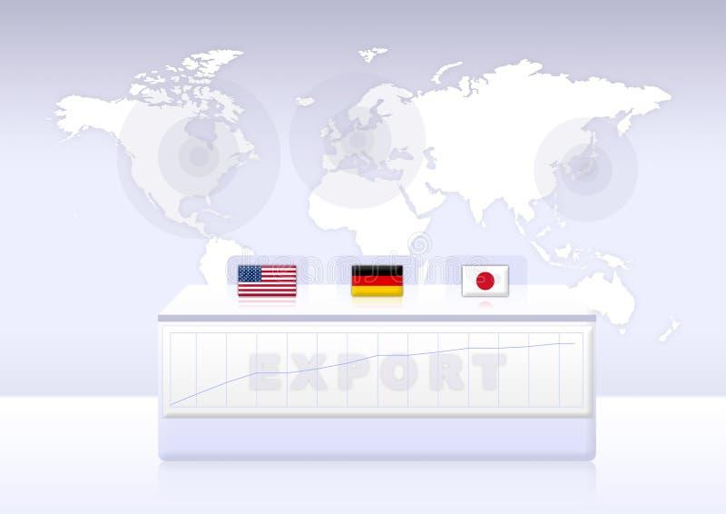 Exportación stock de ilustración