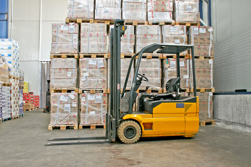 Exportación de Forklifter foto de archivo