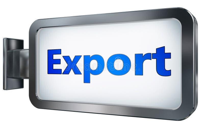 Exportación en fondo de la cartelera ilustración del vector