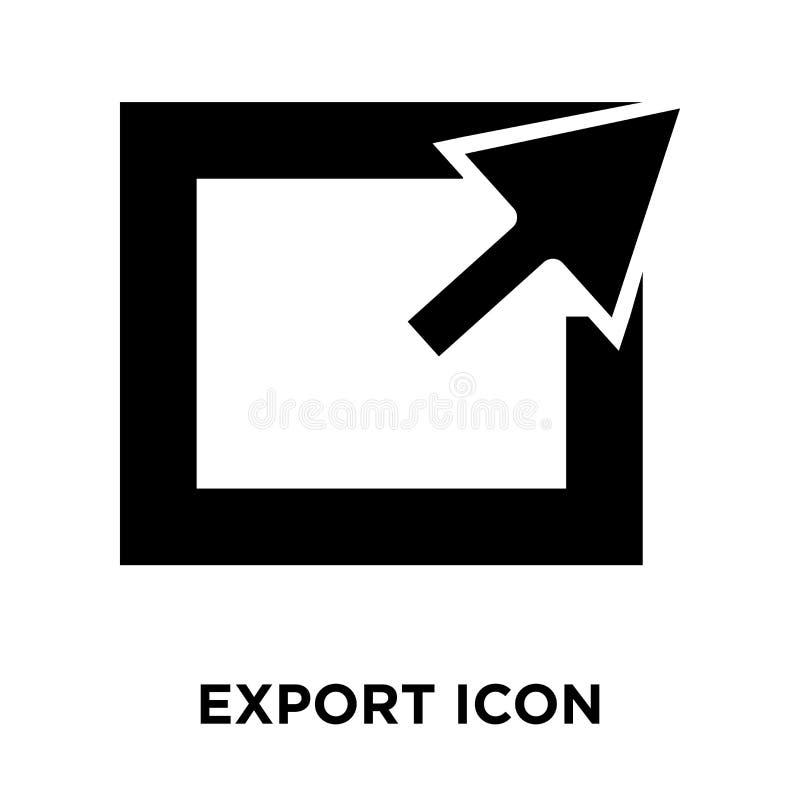 Exporte o vetor do ícone isolado no fundo branco, conceito do logotipo de ilustração stock