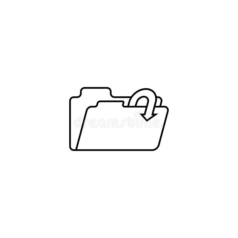 Exportera en dokumentsymbol royaltyfri illustrationer