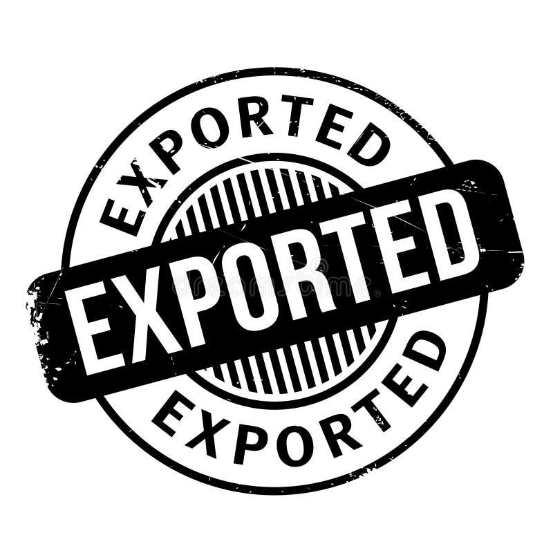 Exportstempel lizenzfreie stockbilder