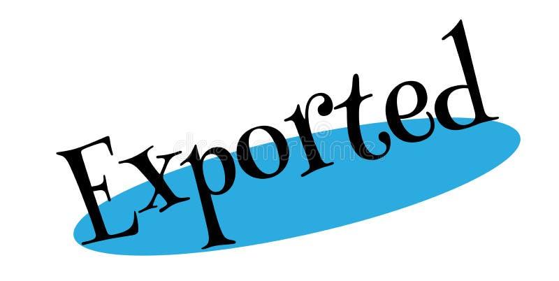 Exportstempel vektor abbildung