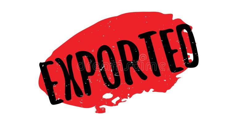 Exportstempel lizenzfreie abbildung