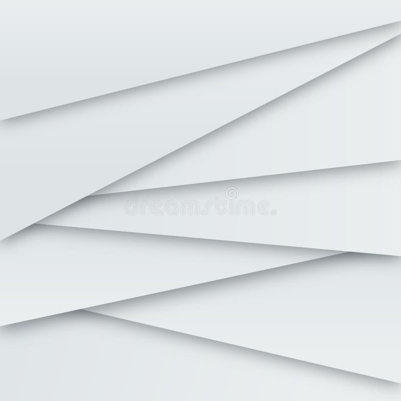 Exposé introductif de vecteur blanc illustration libre de droits