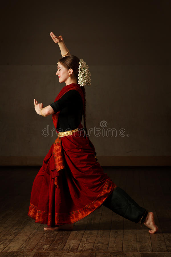 Exposant de danse de Bharat Natyam photo libre de droits