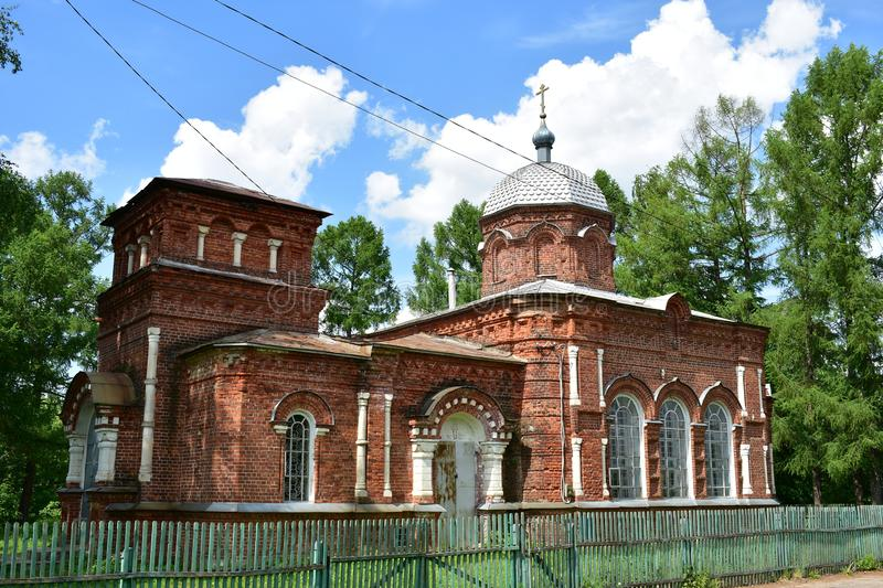 Exposed brick Church in Russian-Byzantine style, with a compact spatial resolution and rich facade decoration. Old believers in the name of St. Nicholas the royalty free stock image