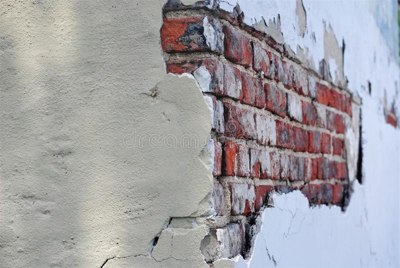 Download Exposed Brick Wall On Old Building Stock Photo - Image of behind, exposed: 93812650