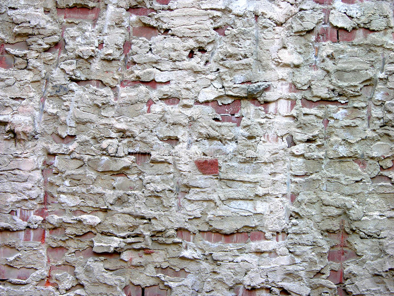 Exposed Partywall mortar royalty free stock image