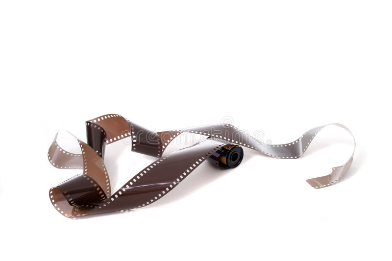 Exposed Roll Of Film 1 royalty free stock image