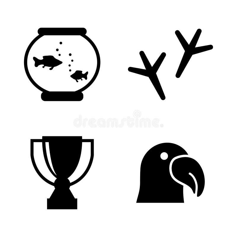 Exposição animal Ícones relacionados simples do vetor ilustração royalty free