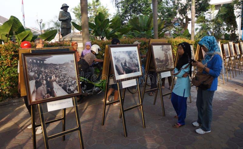 Exposição da foto de Sukarno imagem de stock