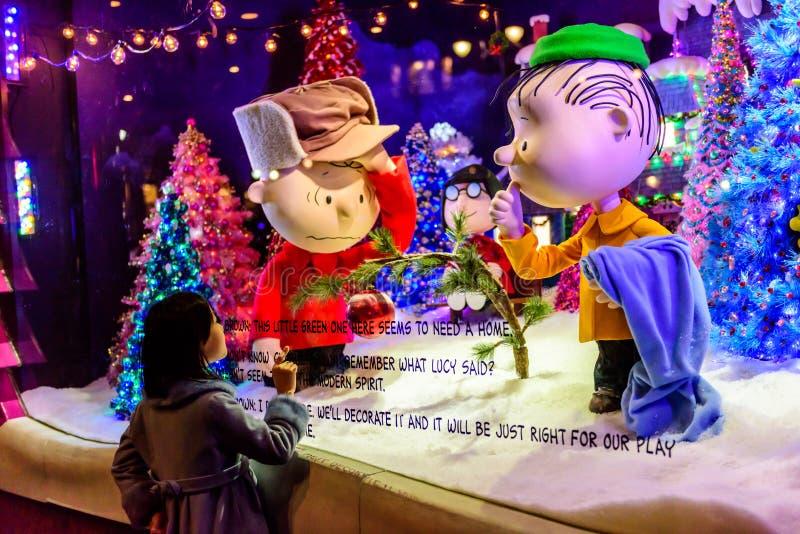 Exposição da janela do Natal imagens de stock royalty free