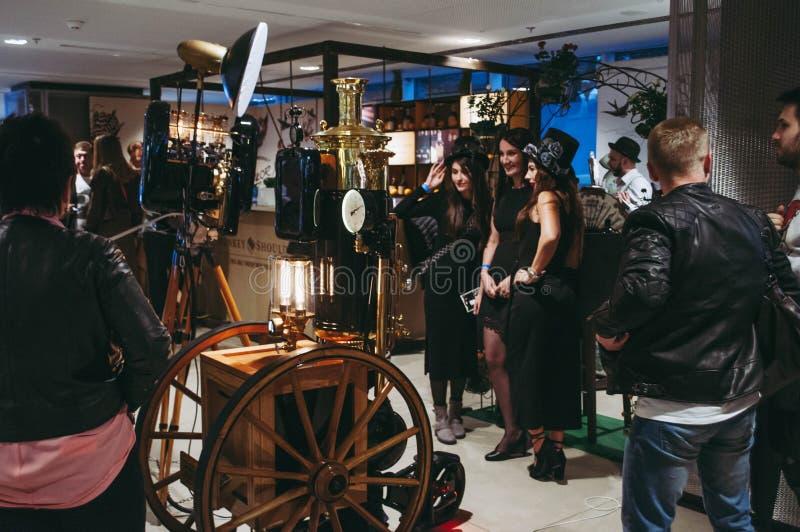 Exposição da mostra do barômetro Kiev setembro de 2018 foto de stock royalty free