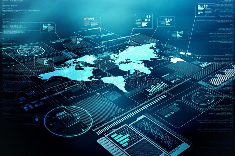 Exposição da tecnologia da informações na internet fotografia de stock royalty free