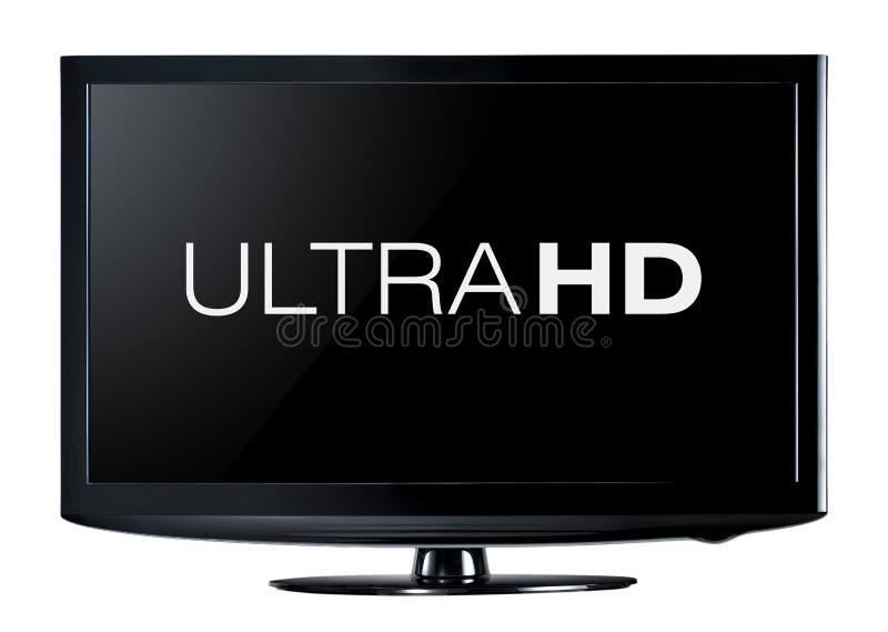 exposição da televisão 4K foto de stock