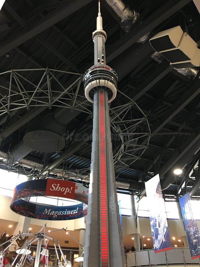 Exposição da torre da NC na loja de lembranças foto de stock