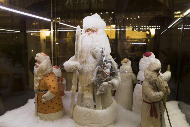 exposição das cláusulas antigas de Santa, vintage fotos de stock royalty free