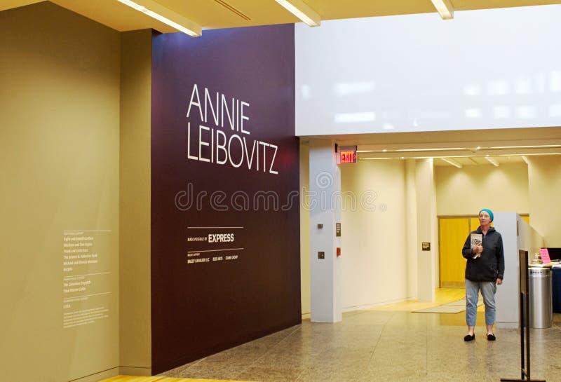 Exposição de Annie Leibovitz imagem de stock royalty free