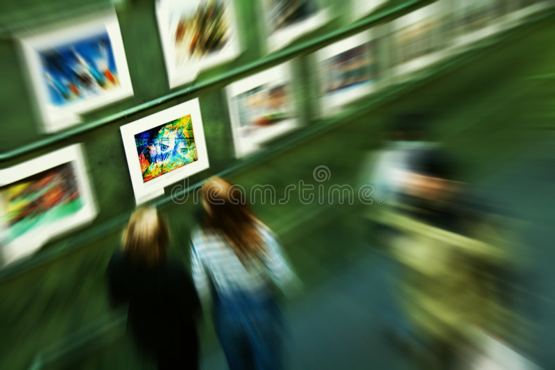 Exposição de arte fotografia de stock royalty free