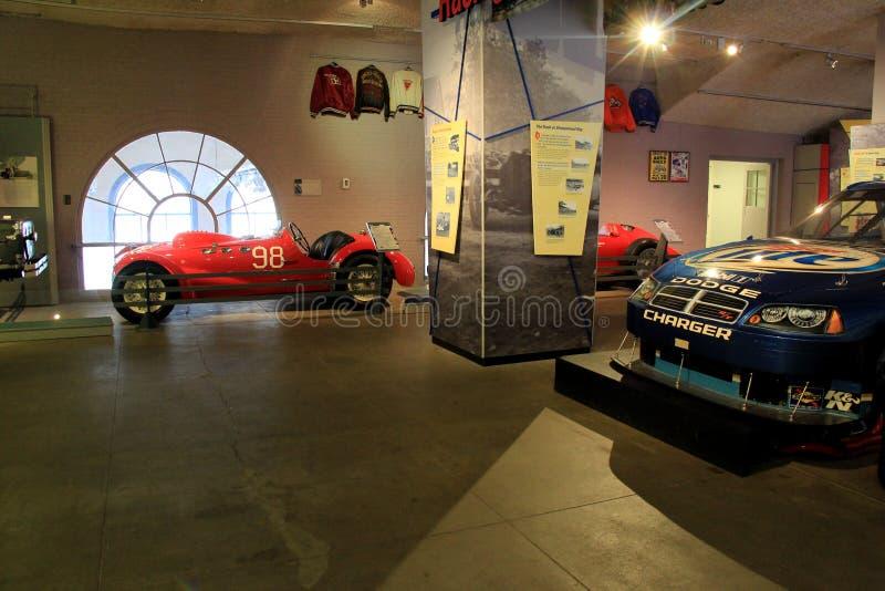 Exposição de carros de corridas famosos, museu do automóvel, Saratoga Springs, New York, 2015 imagens de stock royalty free