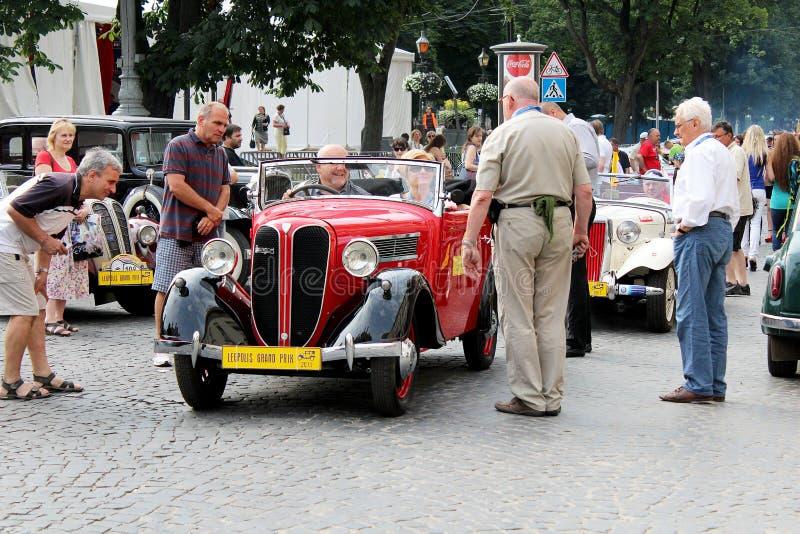 Exposição de carros do vintage imagem de stock