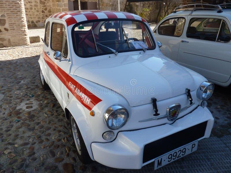 A exposição de carros do vintage, assenta 600 Abarth, 2018 em Talavera de la Reina, Espanha imagem de stock royalty free