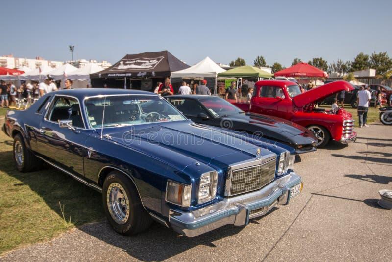 Exposição de carros do vintage na mostra fotografia de stock royalty free