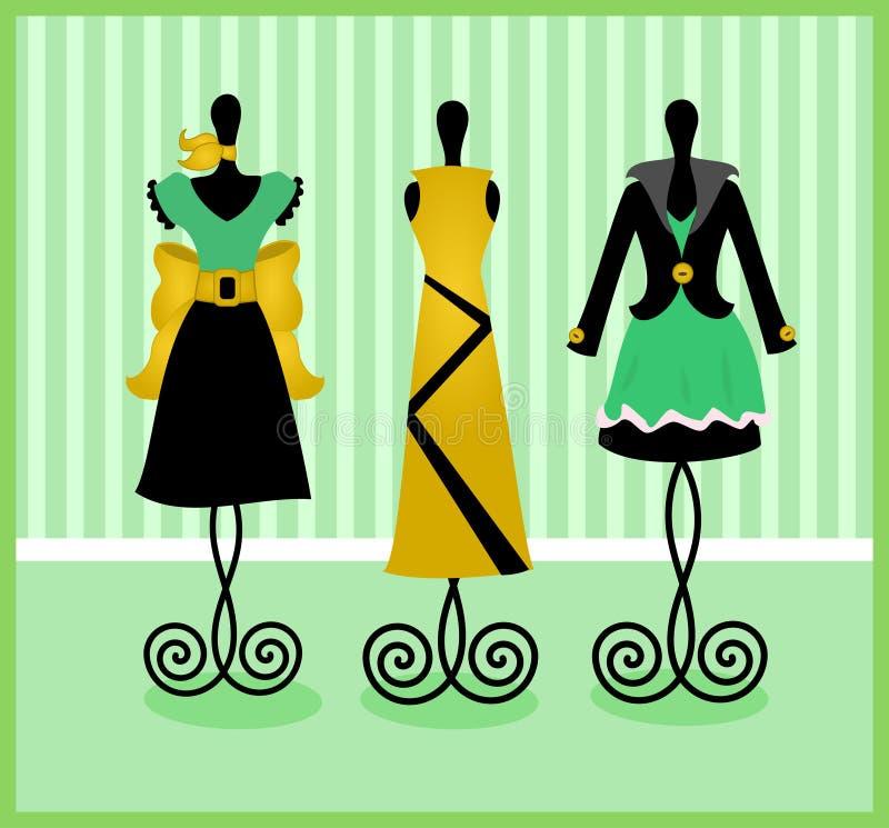 Exposição de Dressform ilustração do vetor