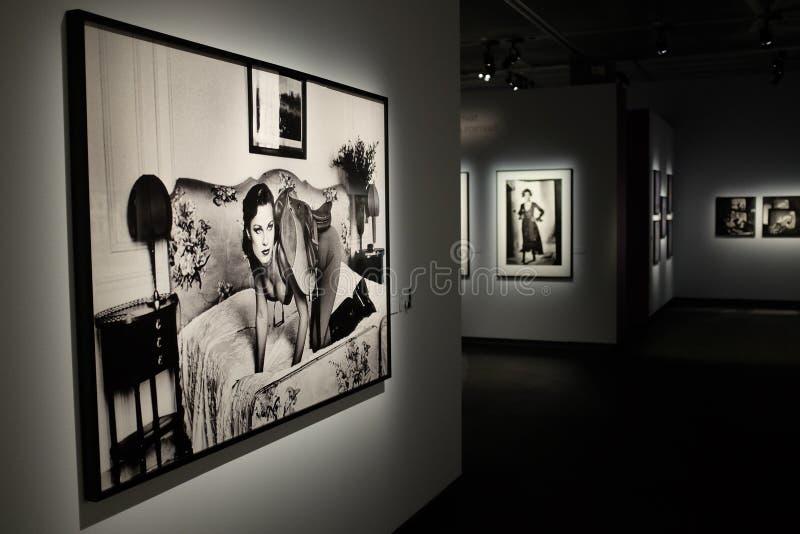 Exposição de Helmut Newton em Éstocolmo fotografia de stock