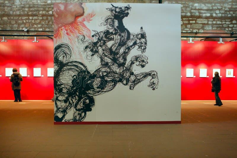 Exposição de Salvador Dali em Istambul, Turquia imagens de stock