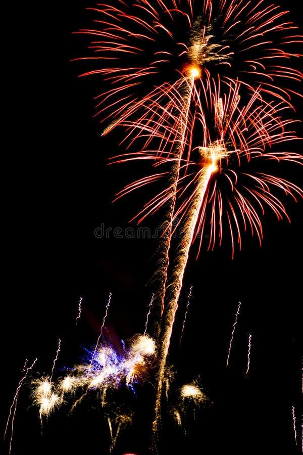 Exposição do fogo de artifício fotos de stock royalty free