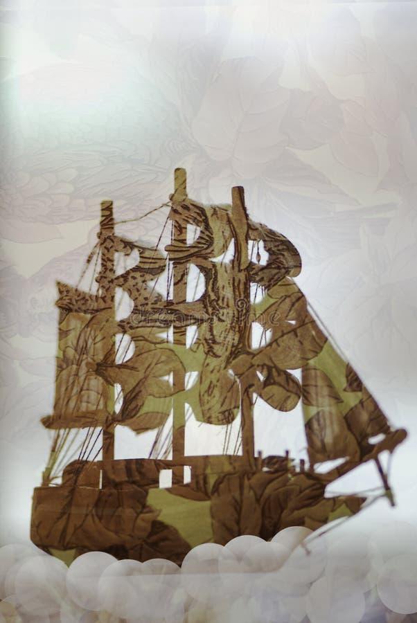 Exposição dobro do navio do brinquedo fotos de stock royalty free