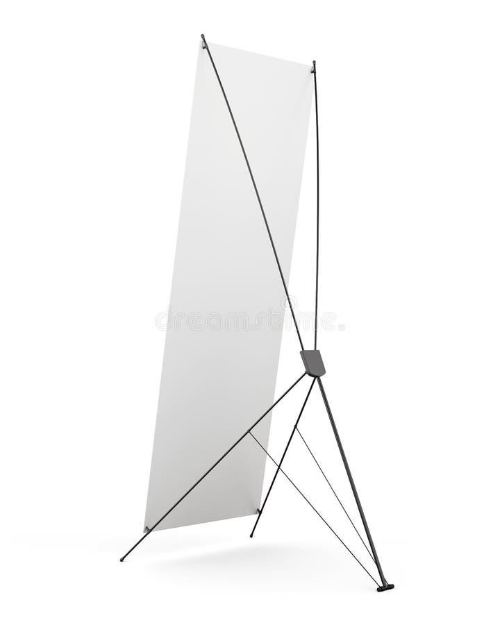 Exposição dos x-suportes da bandeira da parte traseira isolada no fundo branco 3 imagens de stock
