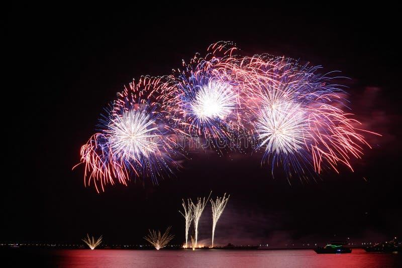 Fireworks-display-series_41 imagem de stock