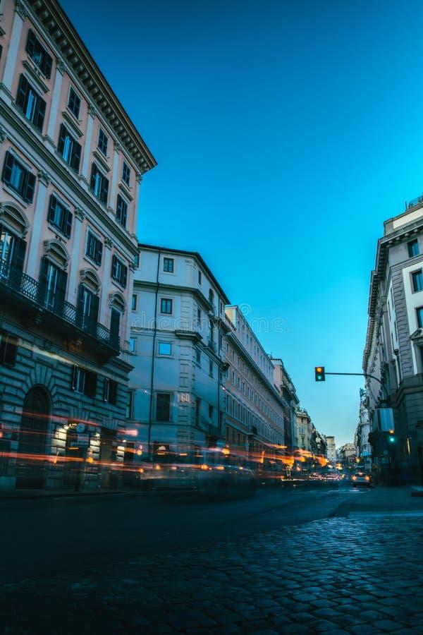 Exposição longa em Roma fotografia de stock royalty free