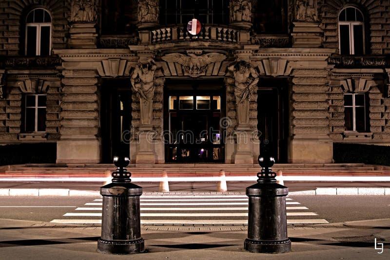 Exposição longa em Strasbourg fotos de stock royalty free