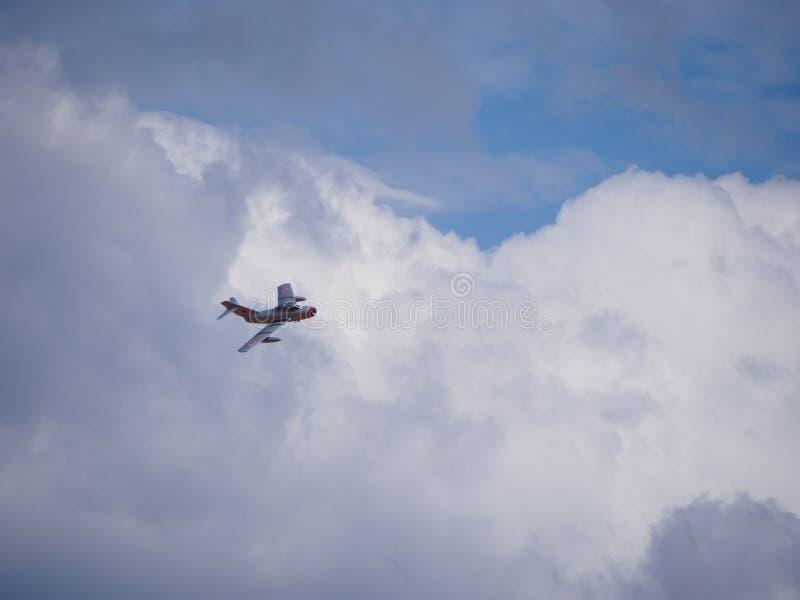 Exposição MiG-15 em Escócia Airshow nacional 2018 imagem de stock