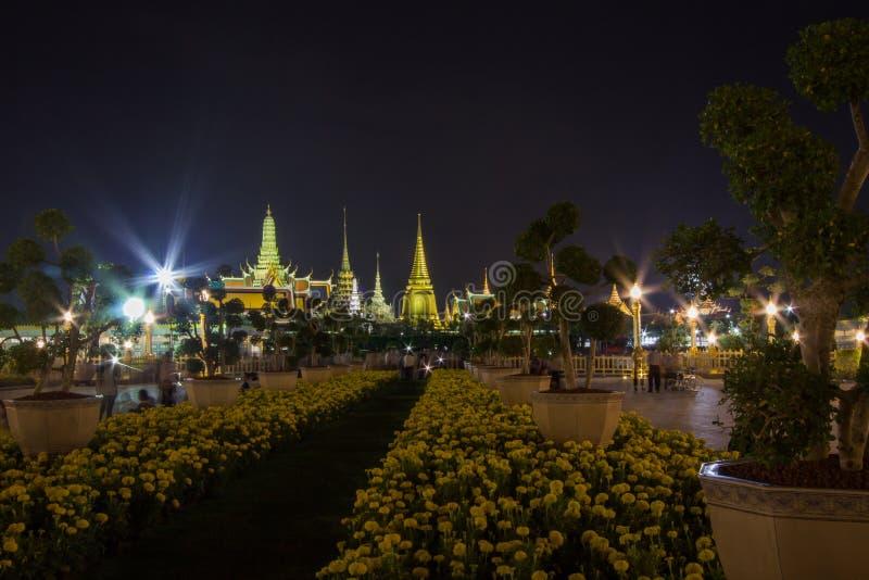 Exposição na cerimônia real da cremação de seu rei Bhumibol Adulyadej da majestade, terra cerimonial de Sanam Luang, Banguecoque, fotografia de stock royalty free