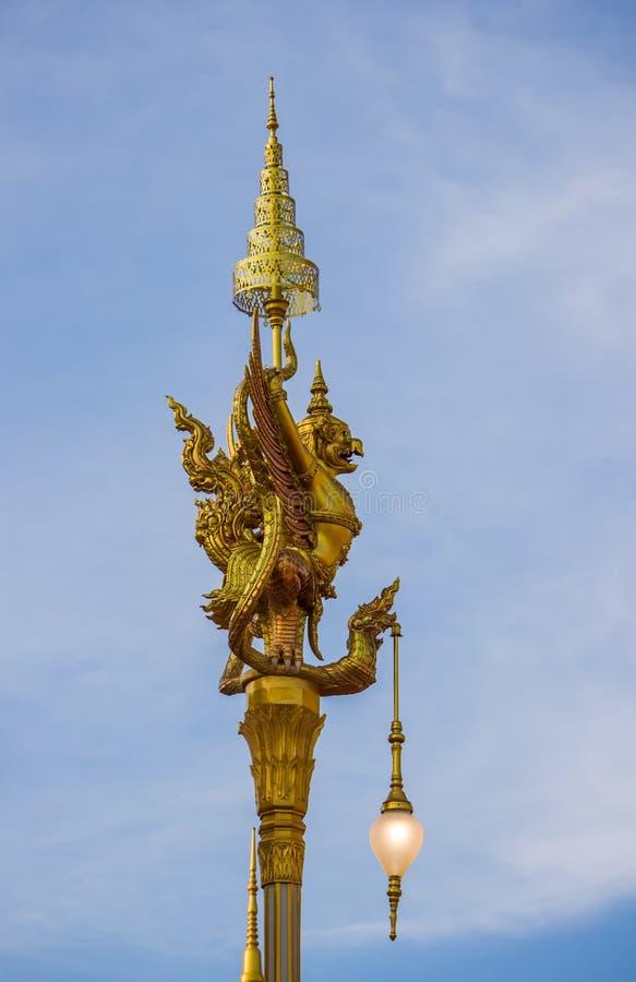 Exposição na cerimônia real da cremação, terra cerimonial de Sanam Luang, Banguecoque, Tailândia em November25,2017: Escultura do imagem de stock royalty free