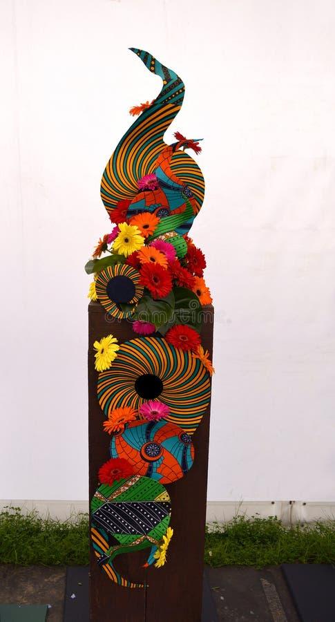 Exposição psicadélico da flor imagem de stock
