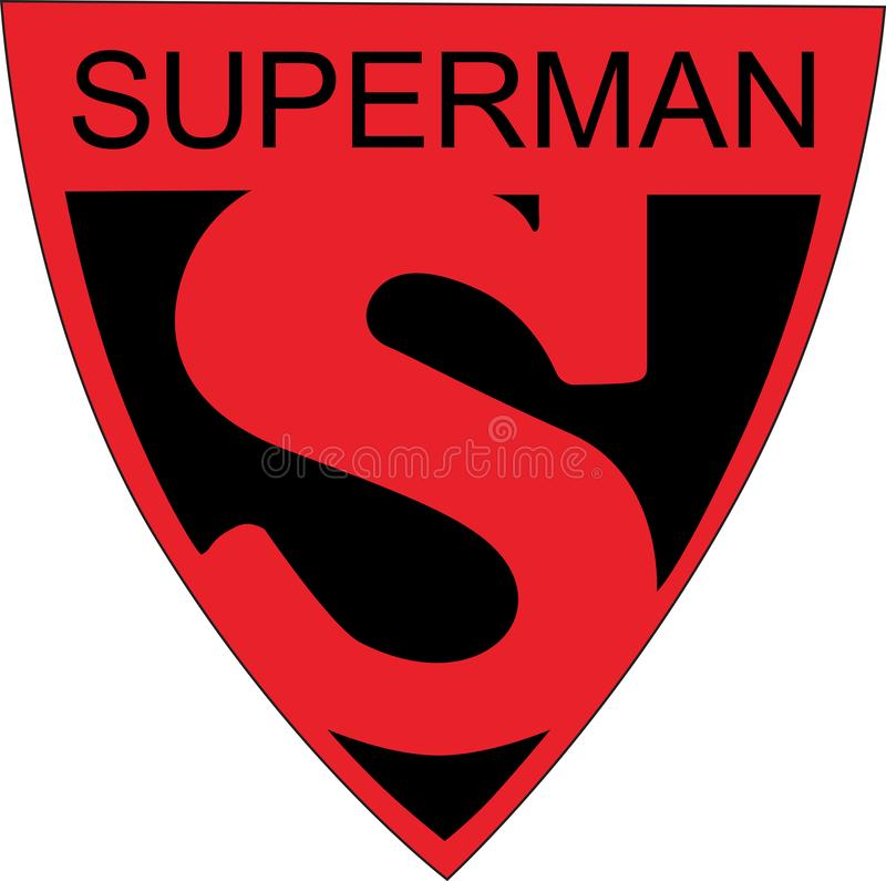 Exposição universal 1939 do logotipo do símbolo do superman S ilustração royalty free