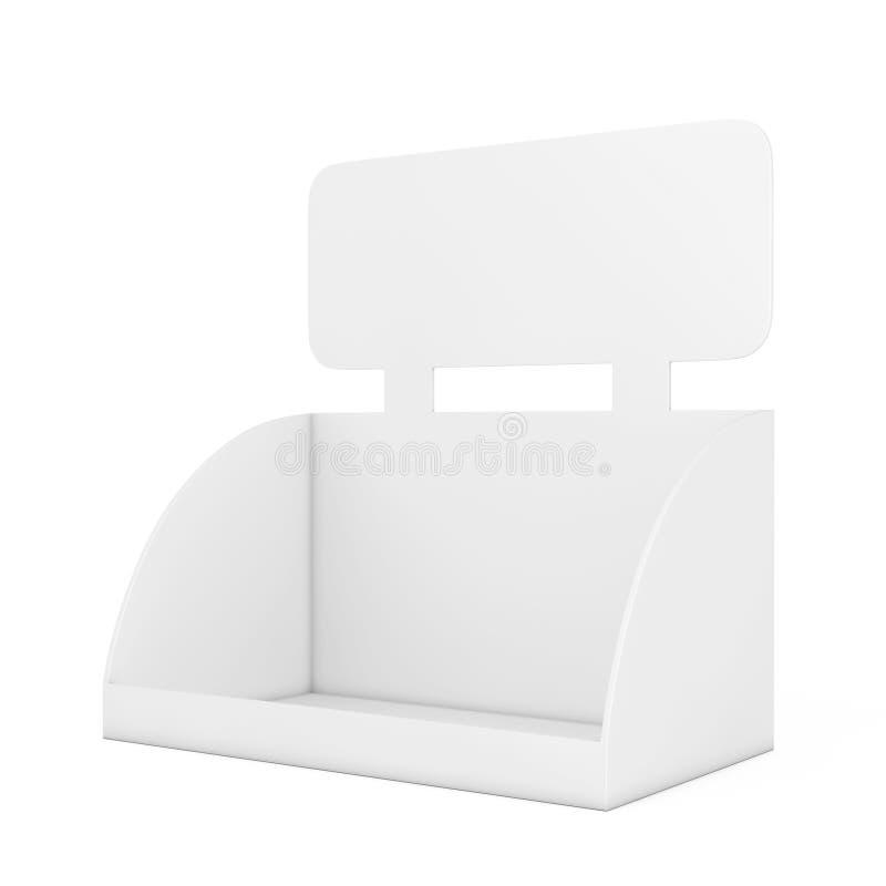 Exposição vazia vazia da caixa para a promoção dos produtos com espaço f da cópia ilustração stock