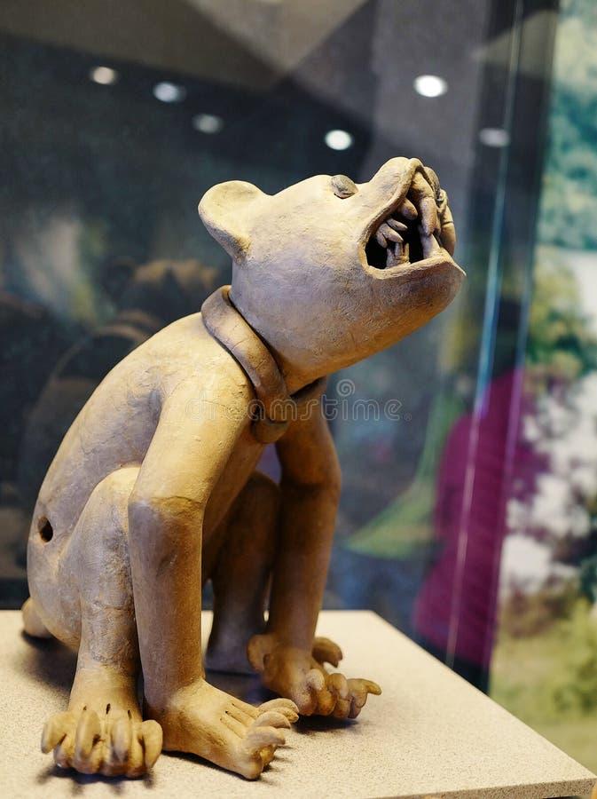 Exposições no Museu Nacional da antropologia, Cidade do México fotografia de stock