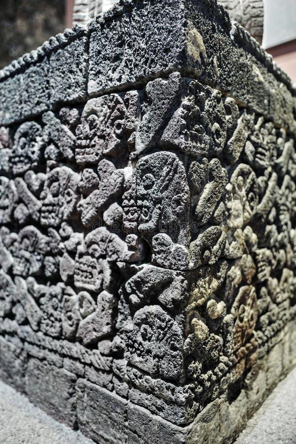 Exposições no Museu Nacional da antropologia, Cidade do México imagens de stock royalty free
