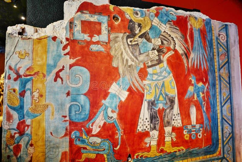 Exposições no Museu Nacional da antropologia, Cidade do México imagem de stock