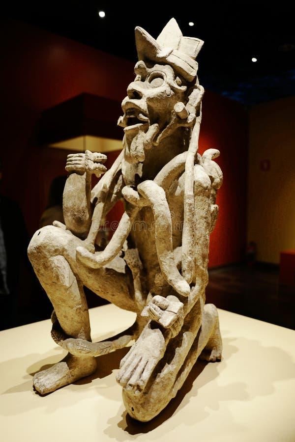 Exposições no Museu Nacional da antropologia, Cidade do México imagem de stock royalty free
