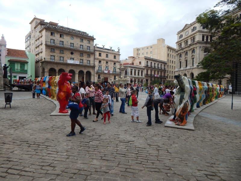 Exposición 'osos unidos 'Havana Cuba del compinche En febrero de 2015 foto de archivo