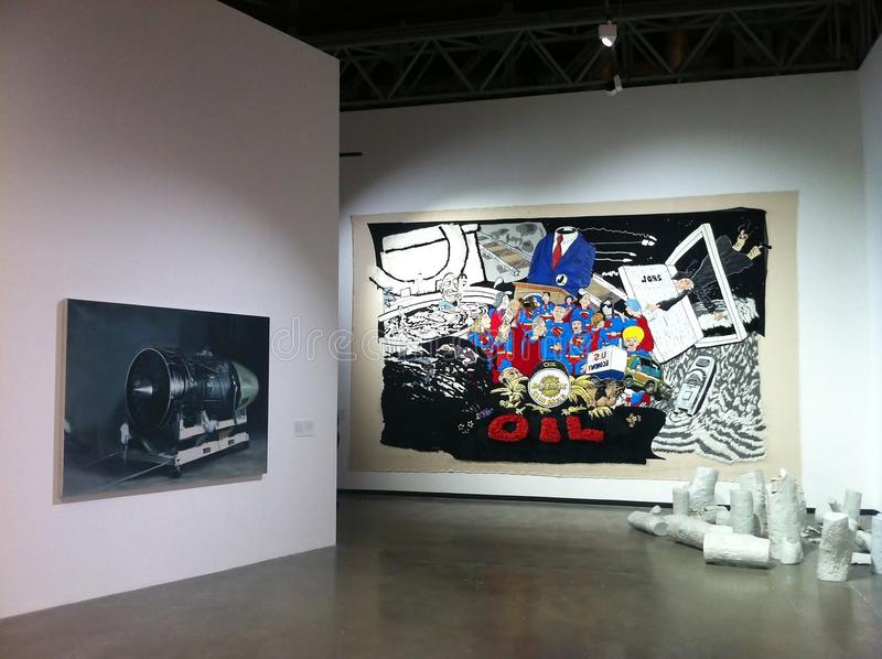 Exposición de arte china contemporánea en Moscú imagen de archivo libre de regalías